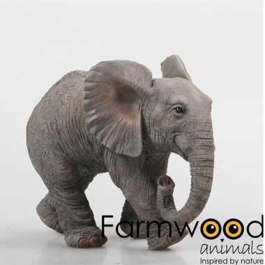 Decoratie beeld olifant 29 cm