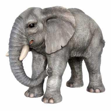 Decoratie beeld olifant 56 cm