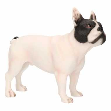 Decoratie beeld witte franse bulldog hond 11 cm