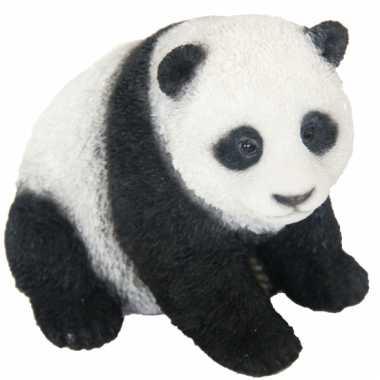 Decoratie beeldje pandabeer 14 cm
