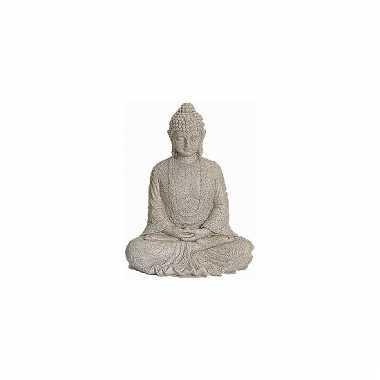 Decoratie boeddha beeld beige 23 cm