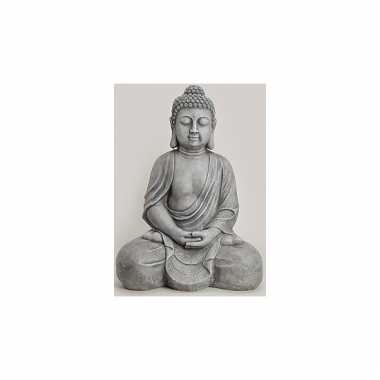 Decoratie boeddha beeld grijs 71 cm