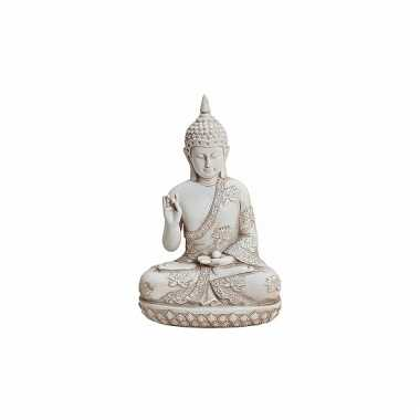 Decoratie boeddha beeldje wit 24 cm