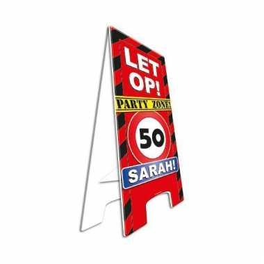 Decoratie bord 50 jaar sarah
