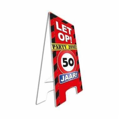 Decoratie bord 50 jaar