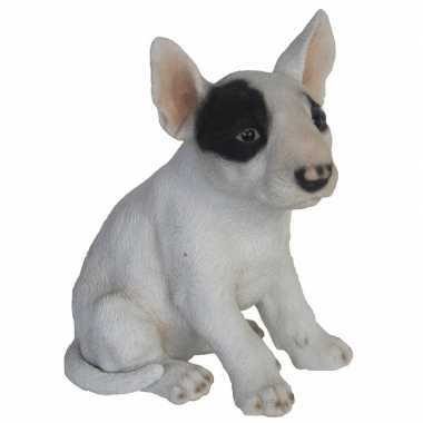 Decoratie dieren honden beeldjes bull terrier 18 cm