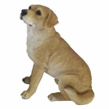 Decoratie dieren honden beeldjes labrador 22 cm
