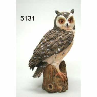 Decoratie dieren vogel beeldjes oehoe uil 20 cm