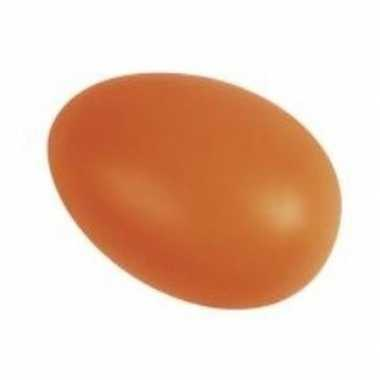Decoratie eieren oranje 6 cm 25 stuks