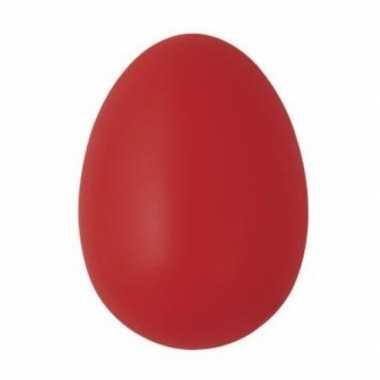 Decoratie eieren rood 6 cm 25 stuks