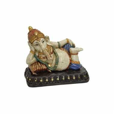 Decoratie genesha boeddha beeld 29 cm