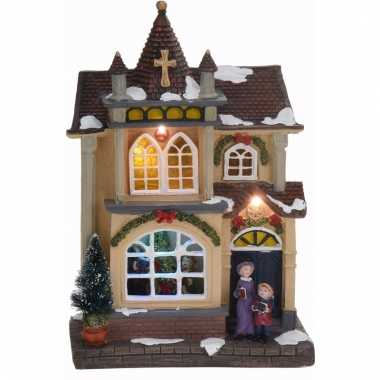 Decoratie kersthuisje met led licht type 4