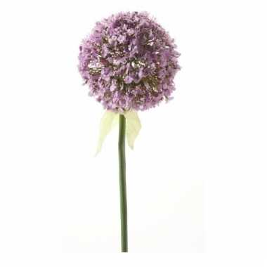 Decoratie kunstbloemen lila daslook / allium 70 cm