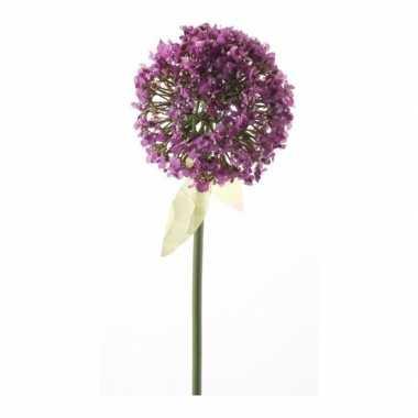Decoratie kunstbloemen roze/paars daslook / allium 70 cm