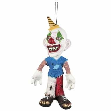 Decoratie ophang pop horror clown 44 cm
