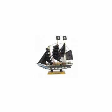 Decoratie piratenschip 16 cm