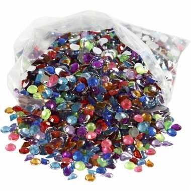 Decoratie plak diamantjes 3000 stuks