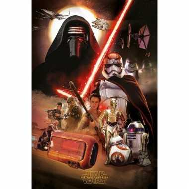 Decoratie poster star wars episode 7 61 x 91.5 cm