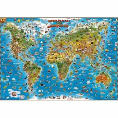 Decoratie poster van de wereld voor kinderen