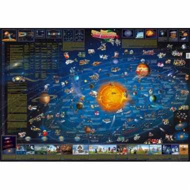Decoratie poster van het zonnestelsel voor kinderen