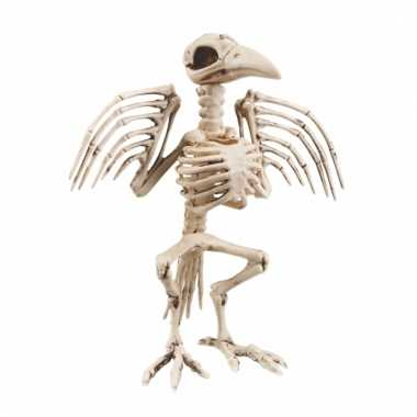Decoratie skelet van een kraai