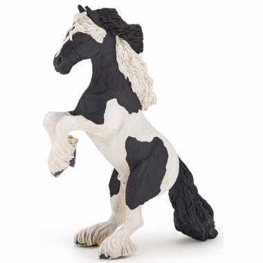 Decoratie steigerend paard plastic 16 cm