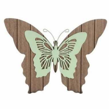 Decoratie vlinder hout 38 cm