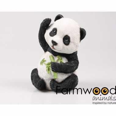 Decoratiebeeldje baby panda 22 cm