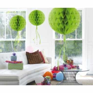 Decoratiebollen lime groen 30 cm