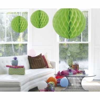 Decoratiebollen lime groen 50 cm