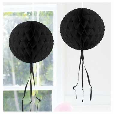 Decoratiebollen zwart 30 cm