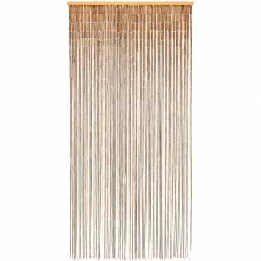 Decoratief deurgordijn van bamboe 90 x 200 cm