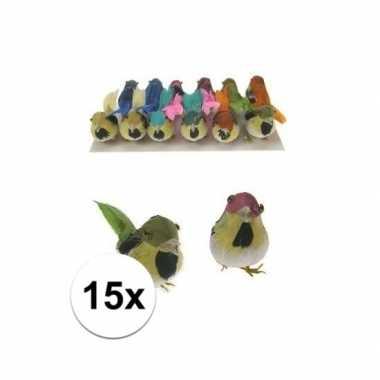 Decoratief vogeltje 15x