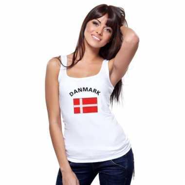 Deense vlag tanktop/ singlet voor dames