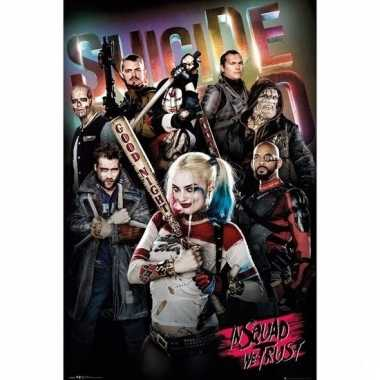 Deurposter suicide squad in squad we trust 61x91cm
