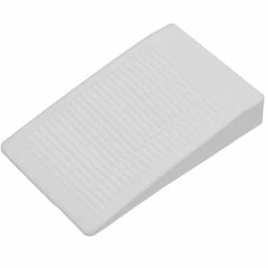 Deurstopper / deurwig rubber wit 16 mm