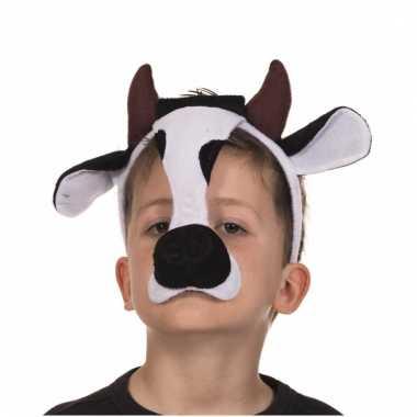 Diadeem koeien masker met geluid