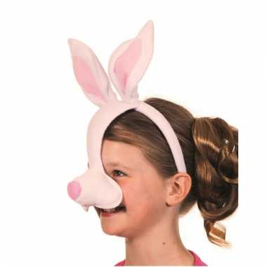 Diadeem konijnen masker met geluid