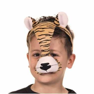 Diadeem tijger masker met geluid