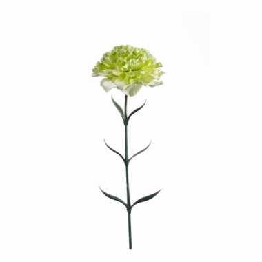 Dianthus anjer kunstbloem 65 cm groen