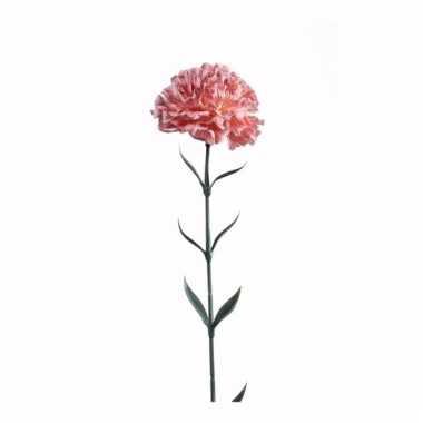Dianthus anjer kunstbloem 65 cm perzik