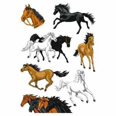 Dieren folie stickers paarden 1 stuks