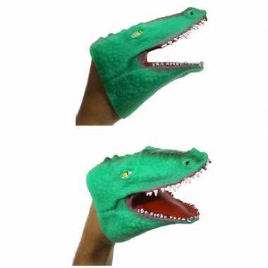 Dieren handpop krokodil