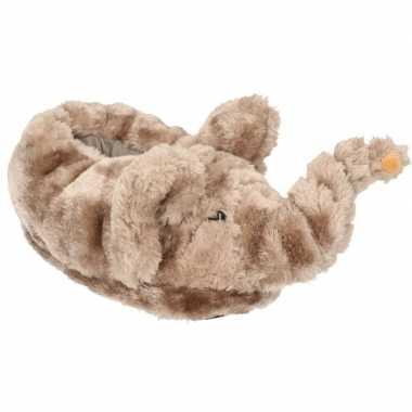 Dieren olifant pantoffels/sloffen voor kinderen maat 34/36