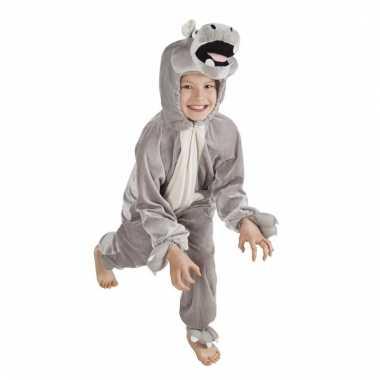 Dieren onesie nijlpaard voor kids