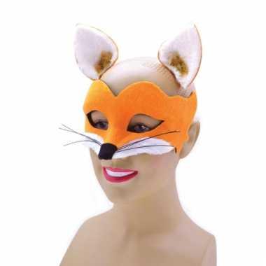 Dieren oogmasker vos met losse oortjes