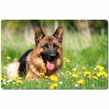 Dieren placemat herdershond 3d