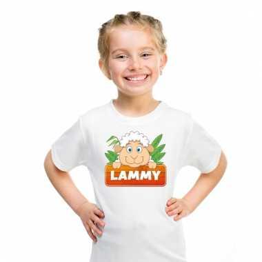 Dieren shirt wit lammy het schaapje voor kinderen