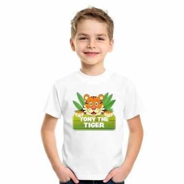 Dieren shirt wit met tony the tiger voor kinderen