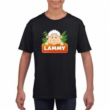 Dieren shirt zwart lammy het schaapje voor kinderen